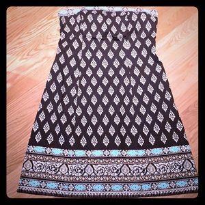 Vintage Strapless NY&Co cotton dress size 10